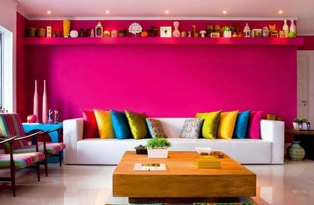 Decoração de ambientes cor de rosa