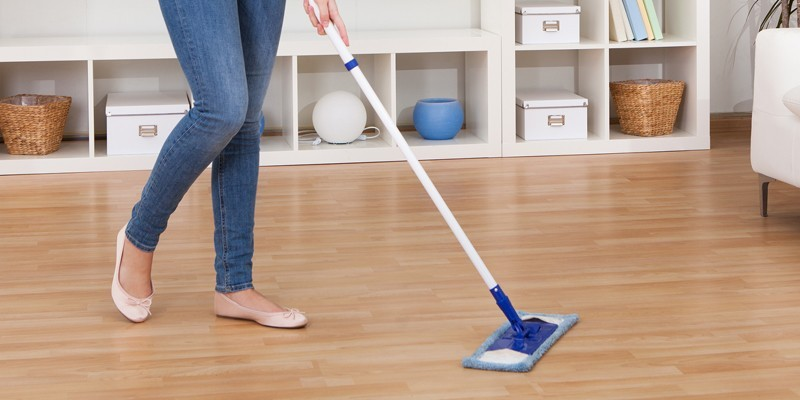 Limpeza de piso laminado