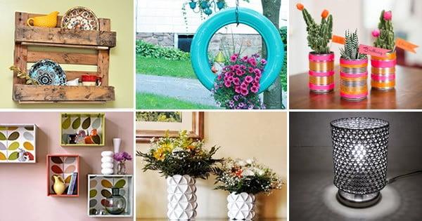 Como fazer decoracao com reciclagem