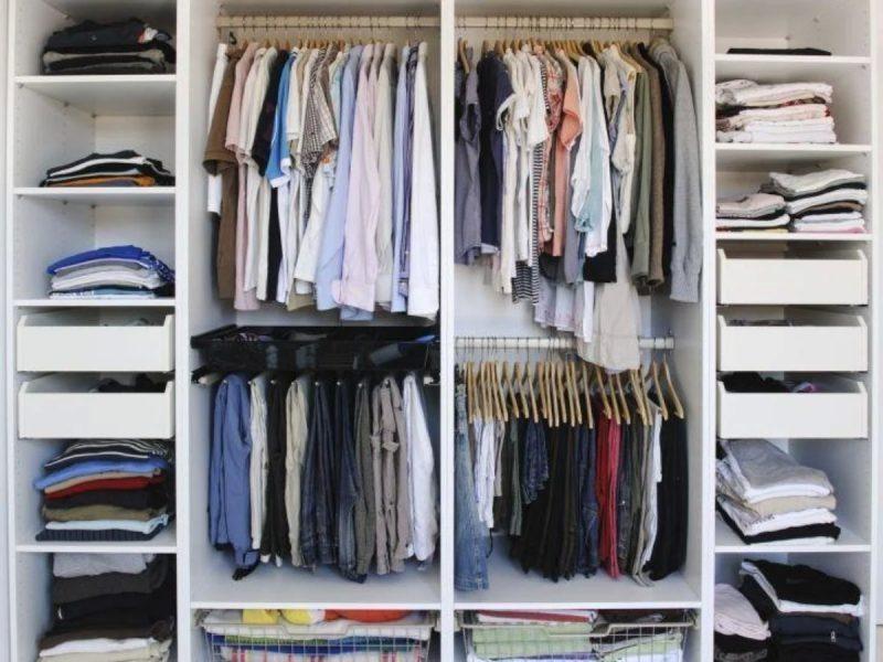 Dicas de organização do guarda roupas